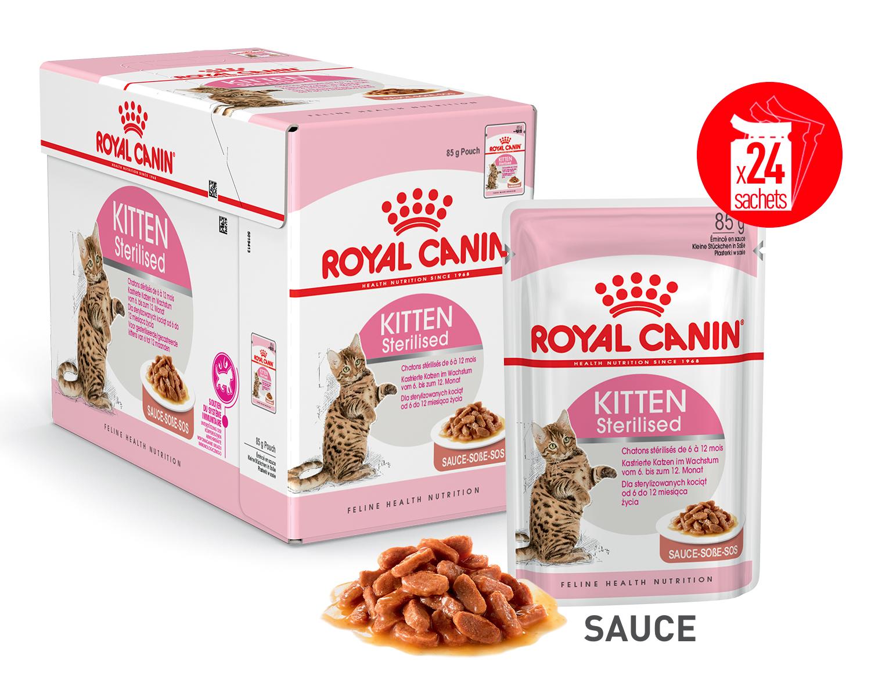Kitten Sterilised en Sauce x24 ou x48 product image